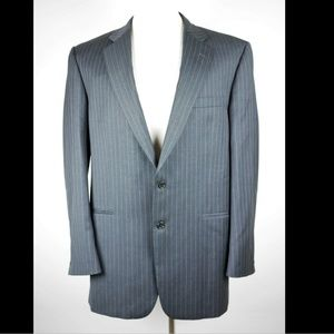 BURBERRY LONDON Gray red pin striped blazer jacket